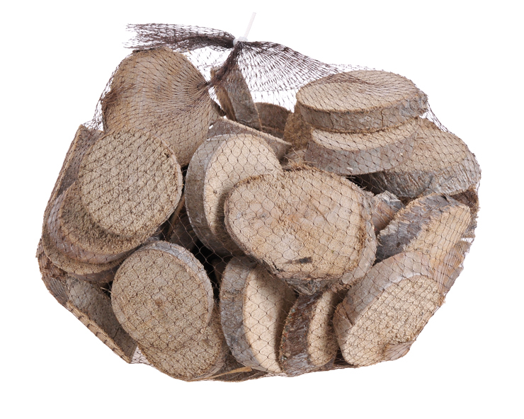 Wood slices 1kg WW